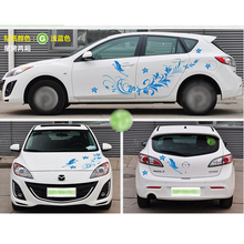 Tailor-Made Flower Car Sticker Camouflage Vinyl Racing Stickers Car Decoration Stickers Decal Suit For vw fiesta fiat renault