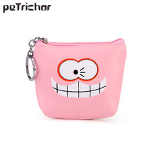 Buy New Cute Women Coin Purses Small Money Purse Brand Designer Zipper Cartoon PU Leather Square Female Mini Bags Girls for $1.24 in AliExpress store