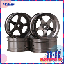 Mxfans 4 PCS Aluminum Alloy Wheel Felloe RC 1:10 On-Road Rimmer Black Wheel Rims(China)
