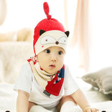 2Pcs Organic Cotton Material Hat Set Kids Tire Cap Spring Summer Cotton Baby Hat(China)