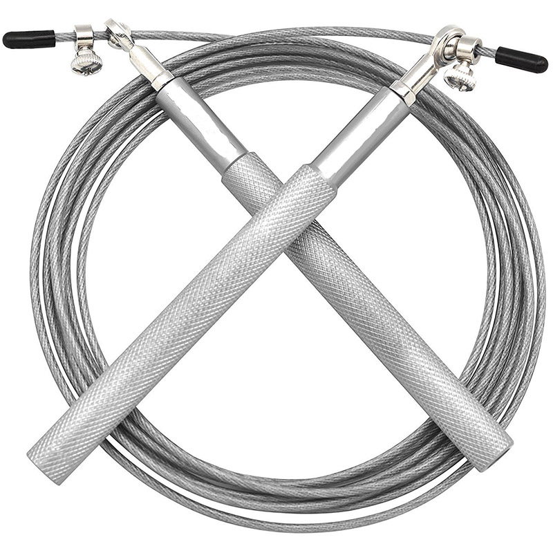 US Steel Wire Speed Skipping Jump Rope Adjustable Crossfit Fitnesss Exercise 3M