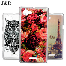 Buy Sony S36h Xperia L Case PC Hard Cover Sony Xperia L S36H C2105 C2104 4.3inch Phone Back Cartoon Painted Cases J&R Design for $1.89 in AliExpress store