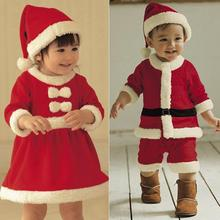 2016 New 0-3 yrs baby girls christmas outfit santa pajamas kids boys christmas clothes disfraz navidad bebe chandal clothing
