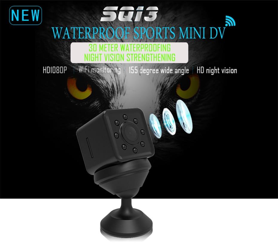 New Mini SQ13 Camera Full HD 1080P Wifi DV DVR Wireless Cam Video Camcorder Recorder Night Vision Small Camera like sq8 sq12 (1)