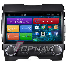 9inch Quad Core Android 6.0 Car Radio Player for Edge GPS PC Stereo With Mirror Link Maps Wifi Bluetooth,no DVD
