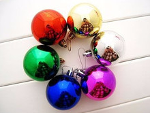 3CM Plastic Christmas ball ornaments bulk with Muti-color(China)