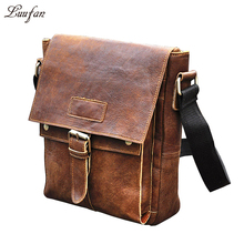 High quality Genuine Leather shoulder bag unisex leather messenger bag Cowhide Crossbody Bag for iPad casual satchel bag