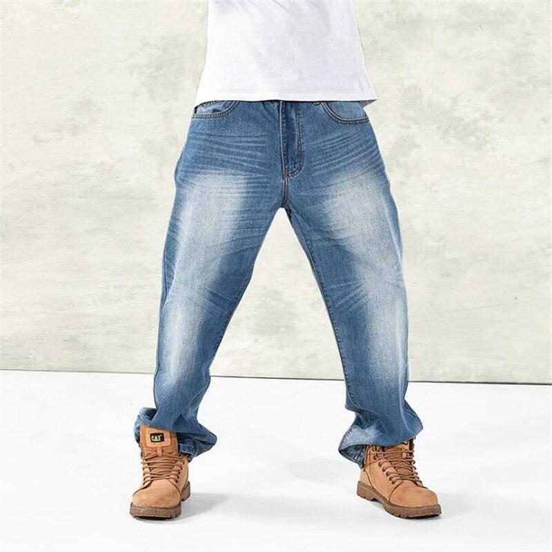 2017 Hip Hop Fat Mens Jeans Baggy Loose Harem Denim Pants Plus Size P5006Одежда и ак�е��уары<br><br><br>Aliexpress