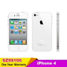 Free Shipping Original Apple Iphone 4 Refurbished mobile phone WCDMA 3G wifi GPS 16GB ROM iOS phone Unlocked with the box