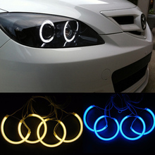 Car styling No Error CCFL Angel Eyes Headlight for Mazda 3 Halo Rings X4 Kit auto accessory parts