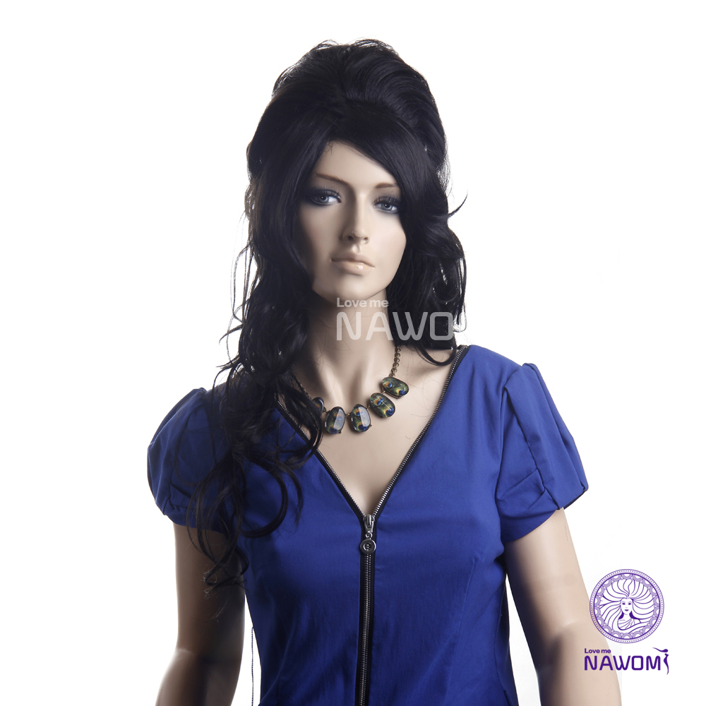 Free Shipping New 2014 Amy Winehouse Wig /Halloween Synthetic Hair Wigs For Women Real Natural Supernova Sale<br><br>Aliexpress