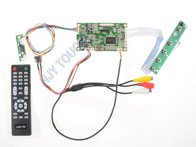 LCD controller board HDMI AV Remote Control for AT070TN92 AT065TN14 50Pin TTL 50 pins LED TFT LCD Screen Raspberry Pi 800x480<br>
