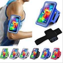 New Arrival Running Sports Gym Band Exercise Arm Cover Tune Belt Sports Case For HTC One M8 Leather + Nylon black