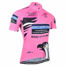 Bxio Breathable Women Cycling Clothing Eagle Bike Sportswear Summer Short Sleeve Bicycle Jersey Pink Jerseys Hot Popular R067J