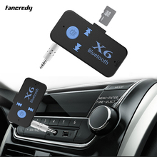 Tancredy USB Bluetooth Aux Audio Receiver Adapter 3.5mm Jack 4.1 Aux Bluetooth Handsfree Car Kit TF Card A2DP Mp3 Music Receiver