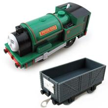 T0223 Electric Thomas and friend Peter sam with one carriage random Trackmaster engine Motorized train Chinldren child kids toys