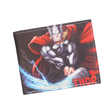 Avengers Thor Animated Cartoon Wallet Young Students Personality Short Wallet Loki Comics Purse Boys Girls Fashion Wallet Marvel