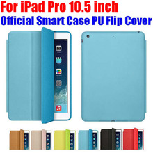 Official Design Smart Case For Apple iPad Pro 10.5 inch Ultra thin PU Leather Flip Cover For iPad Pro IPRS9(China)