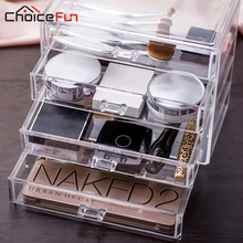 CHOICE FUN New Arrival 4 Drawers Organizer Box Glossy Acrylic Drawer Box DIY Washable Jewelry Box Large Jewelry Box SF-1540-4