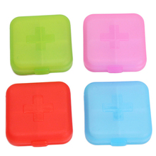 HOT SALE 4 Slots Empty Storage Outdoor Travel Pill Cases Portable Medicine Box Tablet Dispenser Capsule Organizer Color Randomly(China)