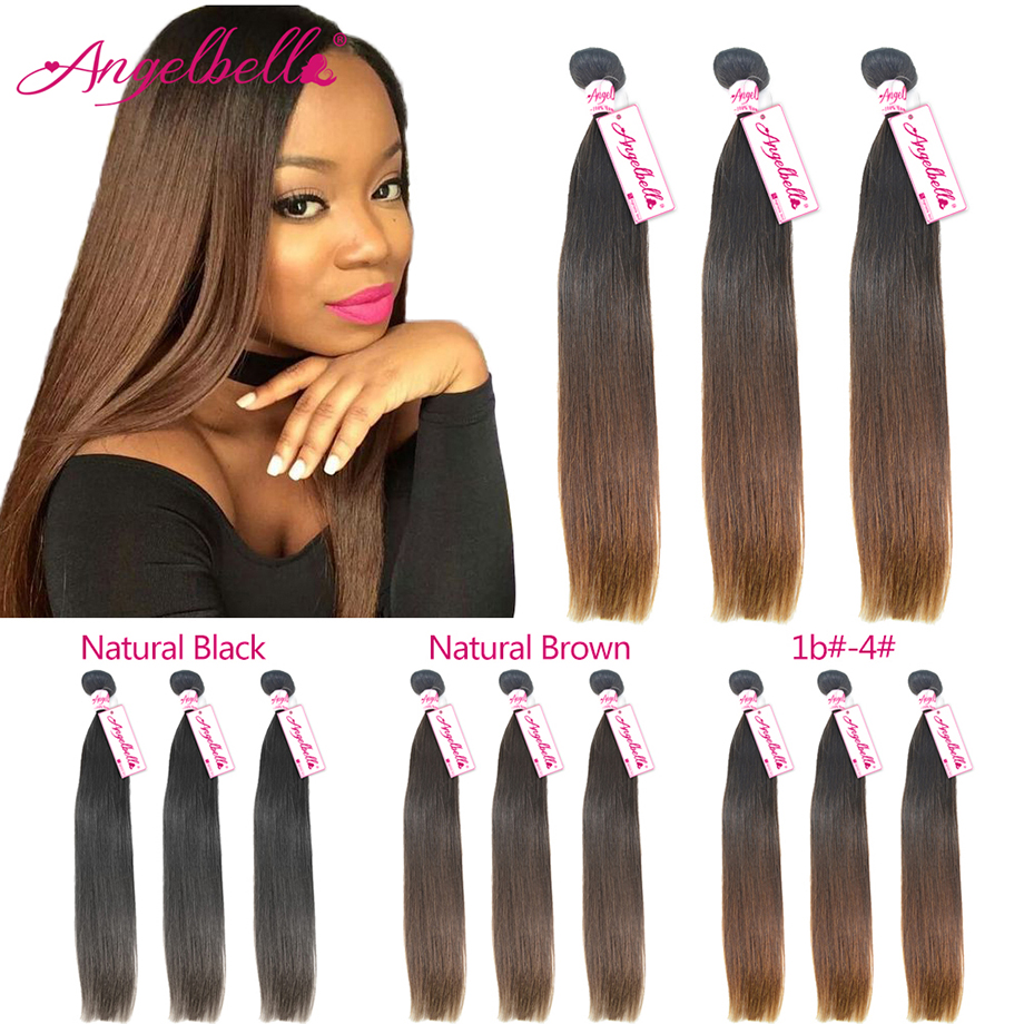 Angelbella Brazilian Virgin Hair 8a Unprocessed Human Hair Bundles Cheap Brazilian Straight Hair 3 Bundle Deals Brazilian <br><br>Aliexpress