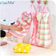 microfiber Ouneed Children Nursery Hand Towel Soft Plush Bow Animal Hanging Wipe Bathing Towel  sep926