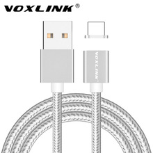 VOXLINK Magnetic Charger Adapter 2.4A Fast Charging Data USB Cable for Apple iPhone 7 7 Plus 6 6s Plus 5S 5C Magnet Charge Cable