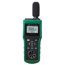 Mastech MS6300 Digital Multifunction Environment Meter Temperature Humidity Sound Air Flow Tester luminometer Anemometer