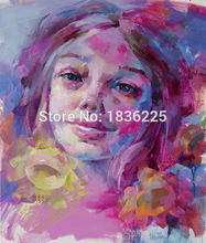 painter 100% handmade canvas oil painting colorful paintings with a knife modern woman portrait painting girl face oil painting
