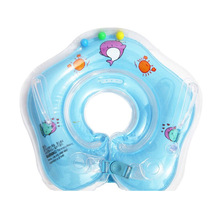 2017 New Inflatable Baby Swimming Neck Ring Baby Tube Ring Safety Infant Neck Float Circle For Bathing Swimming Accessories Drop(China)