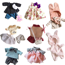 Le Sucre Big Bunny Rabbit Clothes Doll's Clothing Plush Toy Doll Dress Skirt Sweater Girl Play House Clothes Kids Toys 45cm/60cm