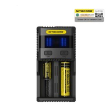 NITECORE SC2 Charger Intelligent Battery Charger USB Output 3A for LiFePO4 Lithium Ion Ni-MH NiCd 18650 10340 10350 10440 10500
