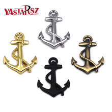 1PC High Quality Metal Personality Car Stickers Boat Anchor Hooks Navy Emblem Grill Cross Badge Pirate Ship Car Body Sticker(China)