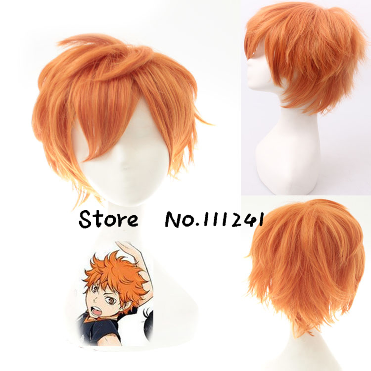 Haikyu!! Hinata Shyouyou Cosplay Wig Synthetic Hair  Wigs Short Orange Heat Resistant <br><br>Aliexpress