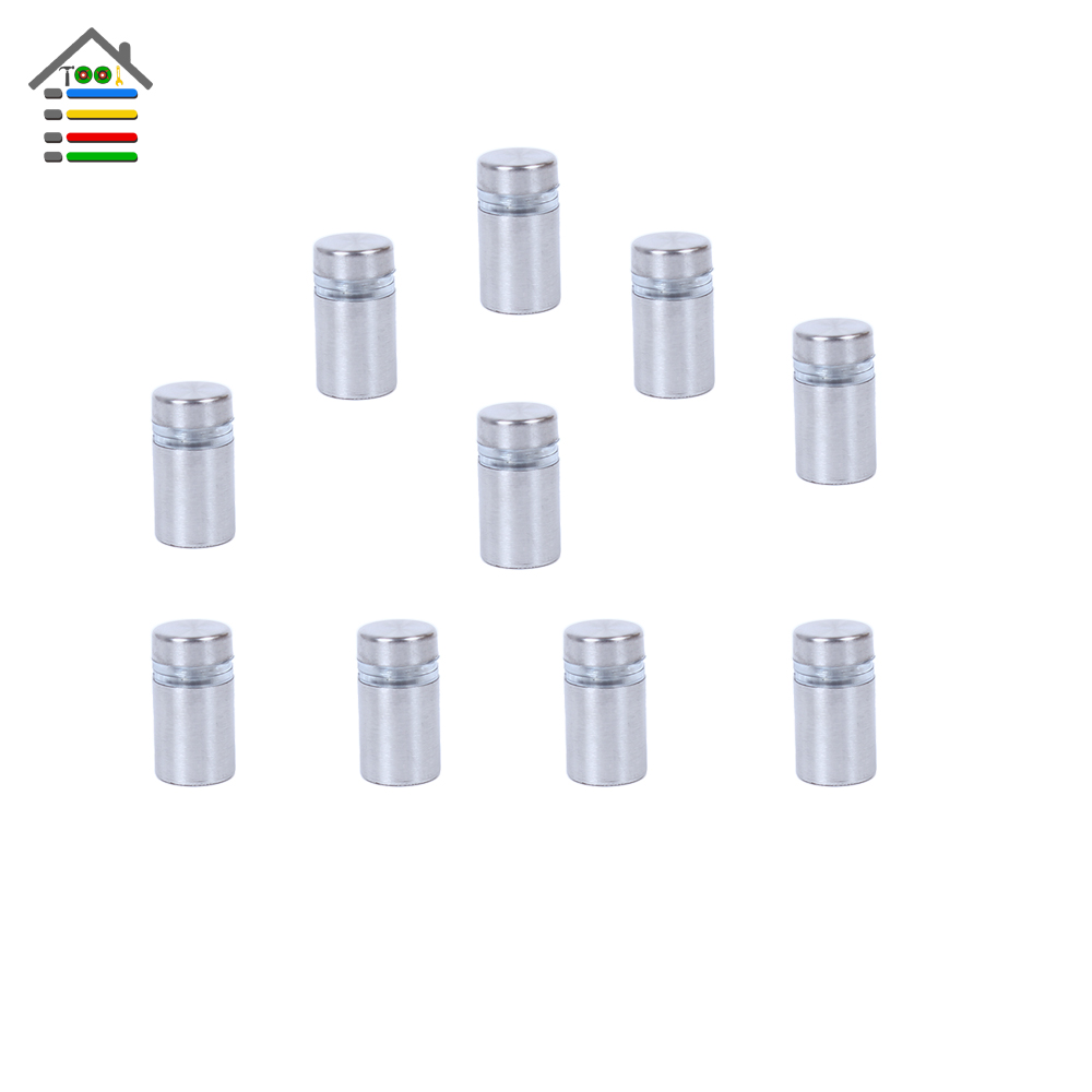 New 10pc 12x20mm Stainless Steel Advertising Nail Screw Glass Standoff Barrel Adjustable Screws Nut Decoration Fixing Billboard<br><br>Aliexpress