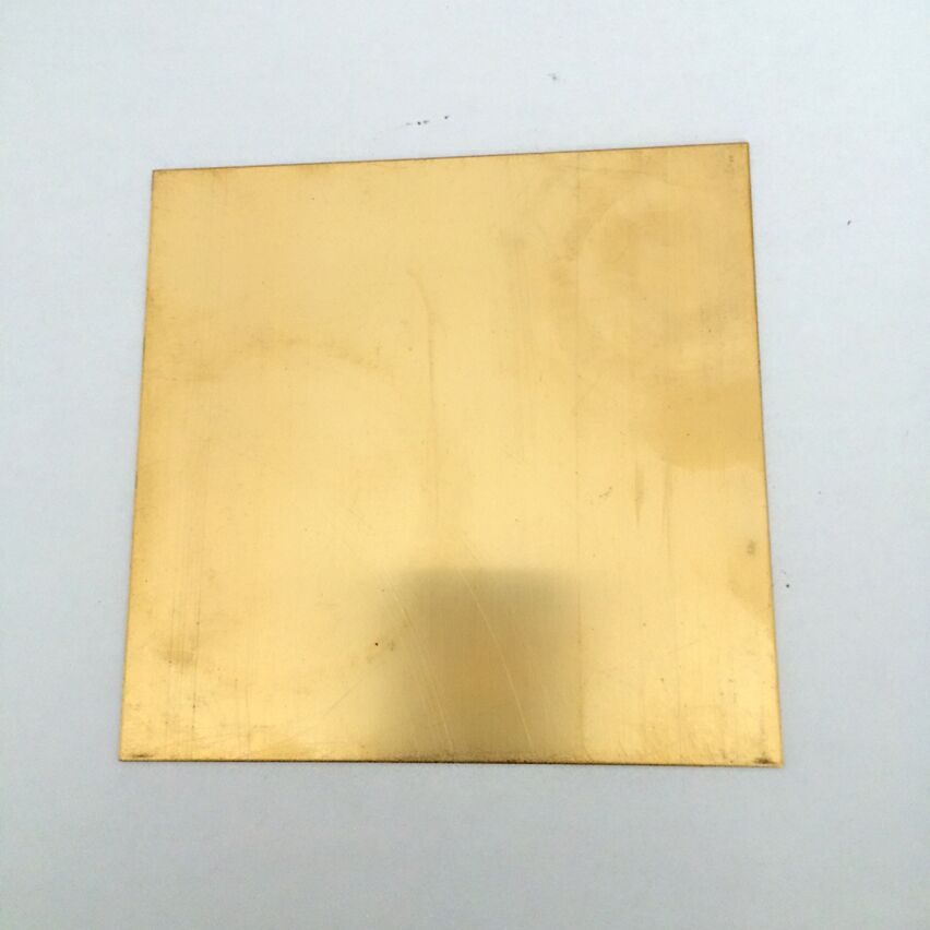100x100x5mm H62 high tenacity Brass Plate Building Manual material DIY use tools brass block sheet pieces<br>