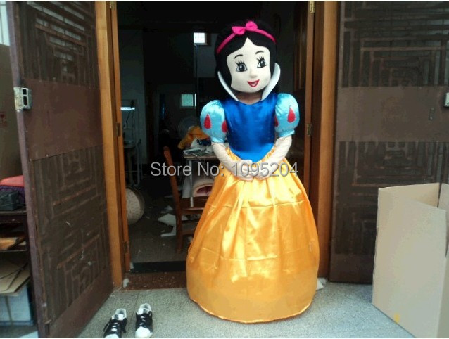 High quality of the Snow White Mascot cartoon mascot costume Snow White mascot costume, adult size, free shipping