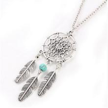 Alloy Pendant Necklaces Dream Catcher beads Necklace Indian Style Feather Dreamcatcher Charms Necklaces New