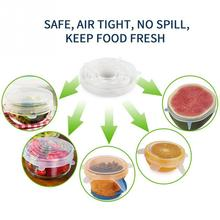 Food Preservation Cover Universal Silicone Stretch Bowl Stopper Cover Suction Pot Lids Kitchen Cooking Pan Cover 6Pcs(China)