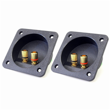 Buy THGS DIY Home Car Stereo Screw Cup Connectors Subwoofer Plugs 2-Way Speaker Box Terminal Binding Post, 2 pcs Black for $4.39 in AliExpress store