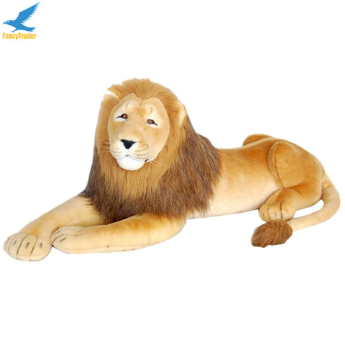 Fancytrader 43\'\' Giant Plush Stuffed Simulation Lifelike Lion King Simba Can be Rided by Kids Great Gift FT90284 (10)