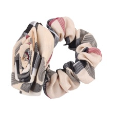 2017 Rose Style London women's  hair Ropes Grid rubber band Lady hair accessories  girl plaided pattern elastic Girls headband