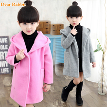 Girls clothes Trench Coats Jackets For Clothing Tops Kids children's Windbreakers Spring jacket Autumn Outerwear wool dress coat(China)
