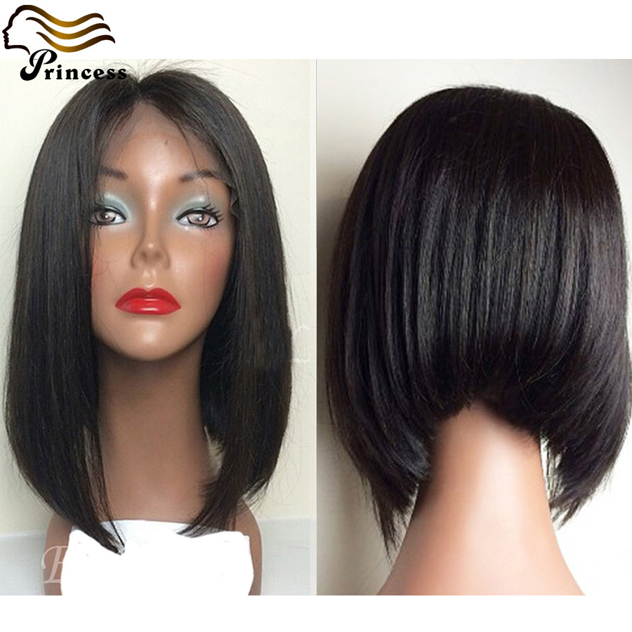 Human Hair Bob Wig Straight 7A Peruvian Full Lace Wigs For Black Woman Glueless Lace Front Human Hair Short Wigs<br><br>Aliexpress