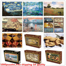 Great 1000Pieces landscape solid paper Puzzle with original box Children Educational Jigsaw toy Decompression rest painting GIFT