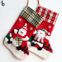 Christmas Stockings Xmas Decoration Crafts Children Candy Gift Bag Santa Bag Old Man Snowman