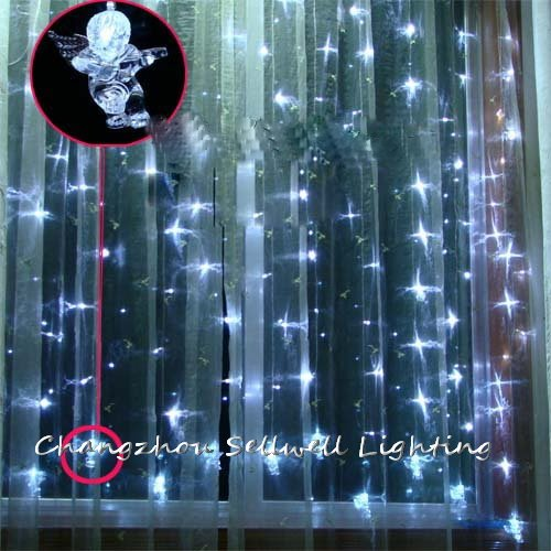 NEW!LED crafts light showcase decoration 120 pcs white angel curtain lamp H287<br>