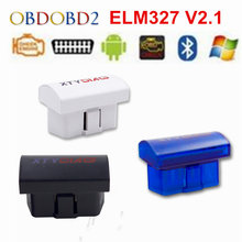 Latest V2.1 Super MINI ELM327 Bluetooth OBD/OBD2 Wireless ELM 327 Multi-Language 12Kinds Works ON Android Torque/PC(China)