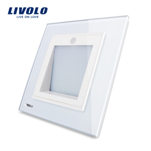 Manufacturer,Livolo New Arrival, UK Standard, Porch / Corridor /Corner Lamp, Footlights Switch, White Color, VL-W291JD-12(China)