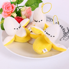 6cm Cute Banana toy Christmas Birthday Gift,Soft plush Stuffed Fuzz Banana Fruit Doll, Toy for cartoon Bouquet 10pcs/lot